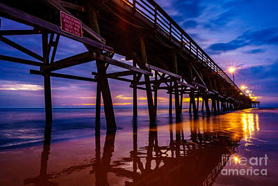 Photograph - Pier Sunrise by David Smith