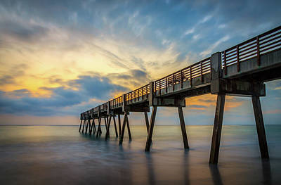 Pier Sunrise Art Print