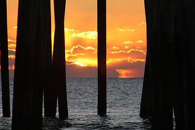 Photograph - Pier Sunrise by Robert Banach