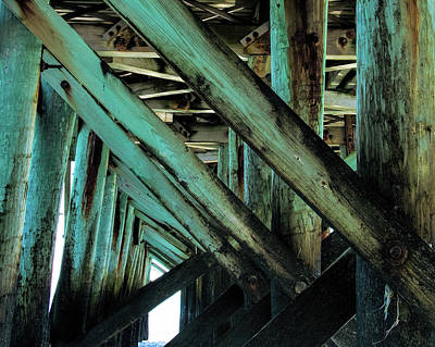 Photograph - Pier Support by Ed Waldrop