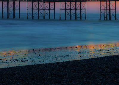 Photograph - Pier Supports At Sunset II by Helen Northcott