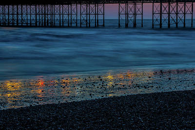 Photograph - Pier Supports At Sunset IIi by Helen Northcott