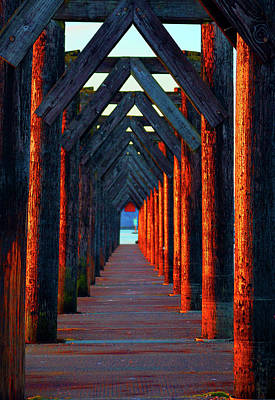 Photograph - Pier Symmetry   by Brian O'Kelly