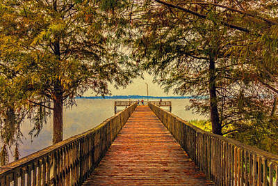 Photograph - Pier Through The Trees by Lewis Mann