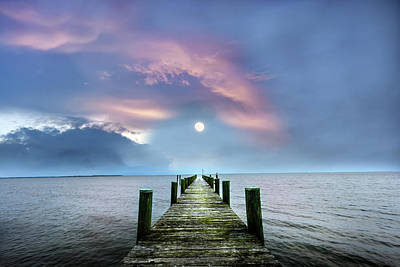 Photograph - Pier To The Moon by Patrick Wolf