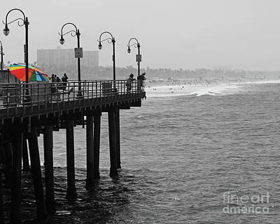 Photograph - Pier Umbrella by Cheryl Del Toro