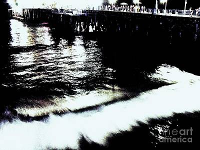 Print featuring the photograph Pier by Vanessa Palomino