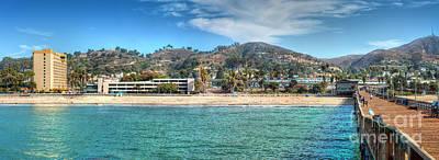 Photograph - Pier Ventura Ca Boardwalk To City  by David Zanzinger