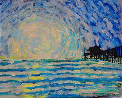 Gods Sunshine Art Painting - Pier by W Gilroy
