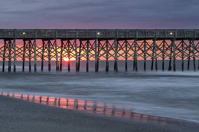 Photograph - Pier With Sunrise by Denise Bush