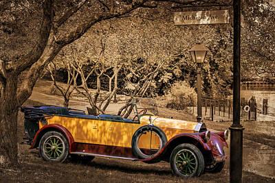 Photograph - Pierce - Arrow Model 33 Touring Car #2 by Susan Rissi Tregoning