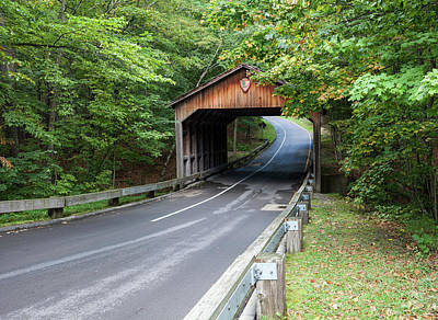 Photograph - Pierce Stocking Covered Bridge by Fran Riley