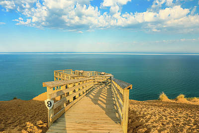 Photograph - Pierce Stocking Drive Lake Michigan Overlook by Dan Sproul