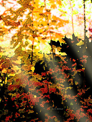 Digital Art - Piercing Autumn Sun by Ian  MacDonald