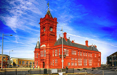 Photograph -  Pierhead Building In Cardiff Wales by Chris Smith