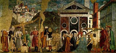 Piero Della Francesca Discovery And Proof Of The True Cross Art Print