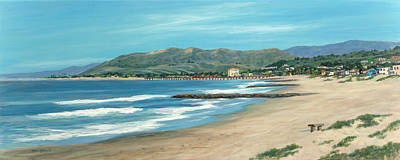 Ventura Painting - Pierpont Beach And The Bench by Tina Obrien