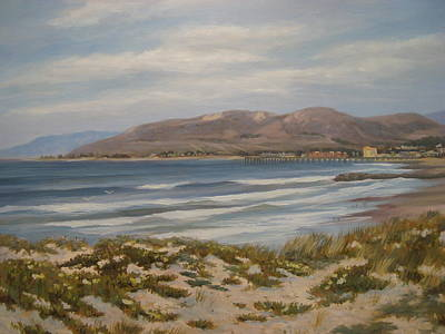 Pierpont Beach Springtime Original by Tina Obrien