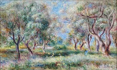 Just Desserts - Pierre-Auguste Renoir - Les oliviers de Cagnes - 1909 by Pierre-Auguste Renoir