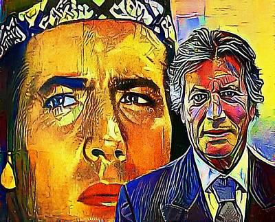 Hispanic Drawing - Pierre Brice, Vinetou - My Www Vikinek-art.com by Viktor Lebeda