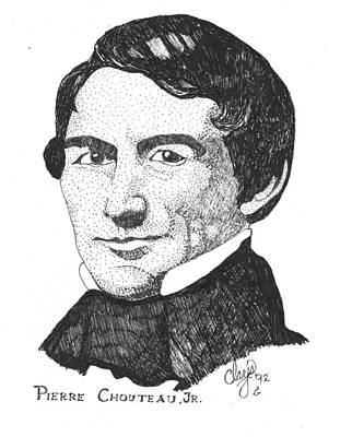 Drawing - Pierre Chouteau Jr by Clayton Cannaday