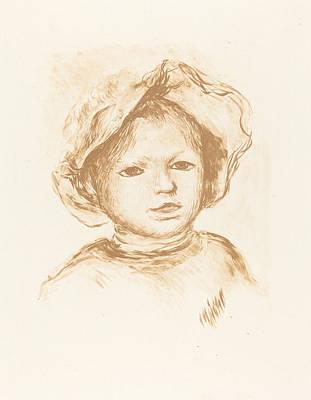 Pencil Shading Drawing - Pierre Renoir by Auguste Renoir