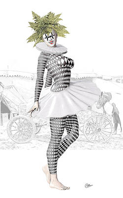 Buy Fine Art Online Digital Art - Pierrette Circus by Quim Abella