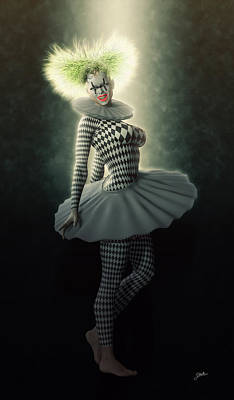 Showgirls Digital Art - Pierrette Diva by Joaquin Abella
