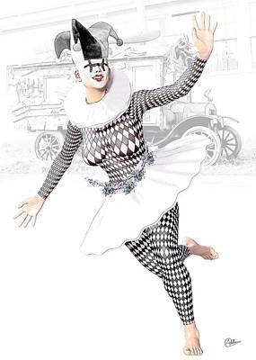 Buy Fine Art Online Digital Art - Pierrette Happy  by Quim Abella