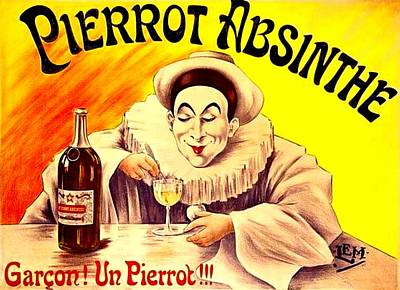 Drawing - Pierrot Absinthe by Marianne Dow