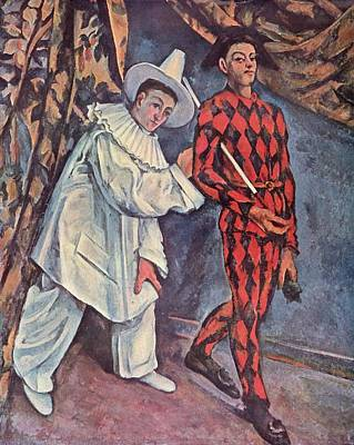 Painting - Pierrot And Harlequin by Paul Cezanne