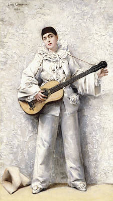 Pierrot Painting - Pierrot by Leon Francois Comerre