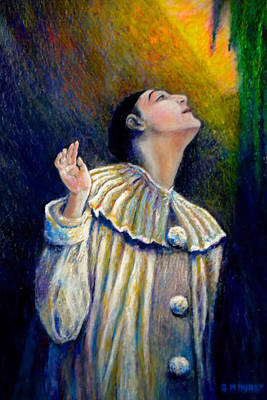 Pierrot Painting - Pierrot's Peering Into The Light by Michael Durst
