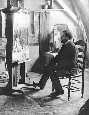 Of Painter Photograph - Piet Mondrian (1872-1944) by Granger