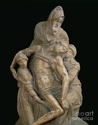 Religious Statue Sculpture - Pieta, 1553 by Michelangelo