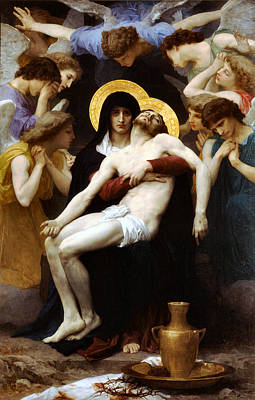 Painting - Pieta 1876 by William Bouguereau Presented by Joy of Life Art