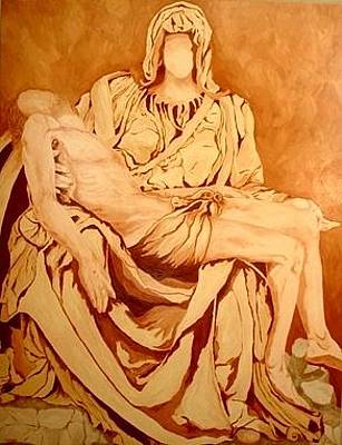 Painting - Pieta-after Michelangelo by Kevin Davidson