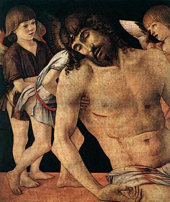 Pieta Digital Art - Pieta Det  by Giovanni Bellini