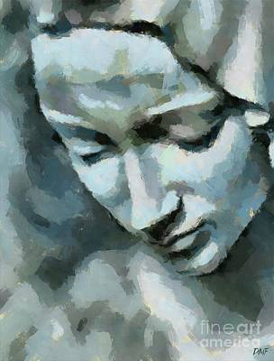 Painting - Pieta-detail by Dragica Micki Fortuna