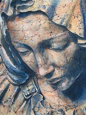 Statue Portrait Painting - Pieta by Fran McGarry