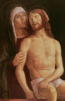 Sadness Painting - Pieta by Gentile Bellini