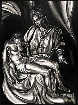 Pieta Art Print by Keith  Thurman