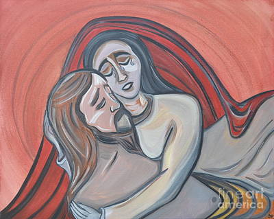 Pieta Of Love And Sorrow Art Print