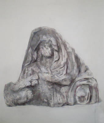 Drawing - Pieta Study I by Paez  ANTONIO