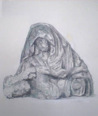 Drawing - Pieta Study II by Paez  ANTONIO
