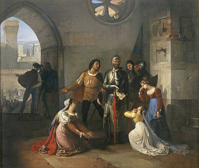 Hayez Painting - Pietro Rossi As A Prisoner Of The Scaligers by Francesco Hayez