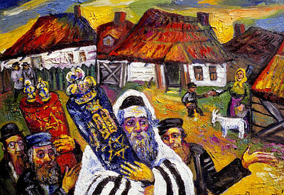 Roussimoff Wall Art - Painting - Piety by Ari Roussimoff