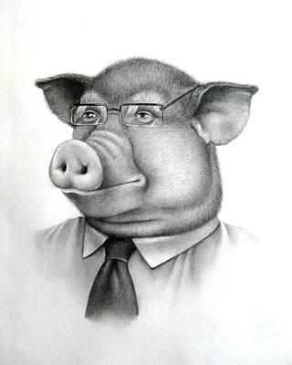 Pig Boss Art Print by Vlad Krichenko