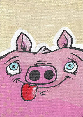 Painting - Pig Face by Tim Boyd