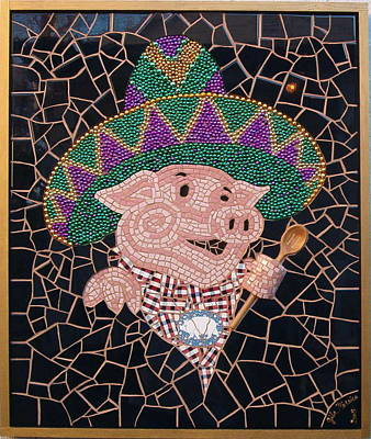 Pig In Sombrero Art Print by Gila Rayberg
